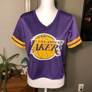 🆕 Los Angeles Lakers Cropped Jersey NWT Large