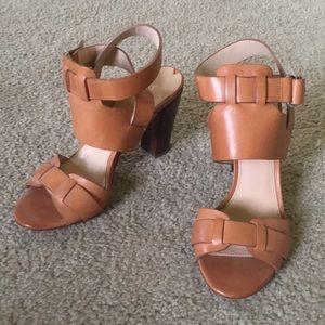 Via Spiga Tan Heels Sandals