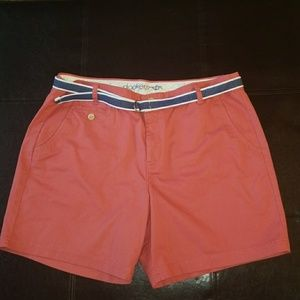 Dockers Peach Khaki Belted Shorts