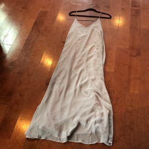 Lulu's light gray maxi dress - Size M