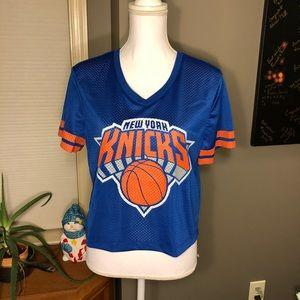 🆕 New York Knicks Cropped Basketball Jersey NWT L