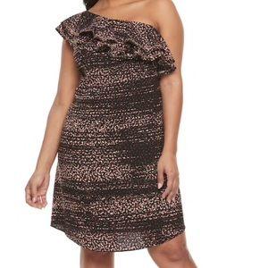 NWT Apt. 9 Size Large One Shoulder Ruffle Dress