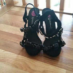 Black Jeffrey Campbell embellished heels