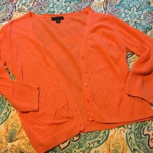 WORTHINGTON XL-  Coral thin knit button cardigan