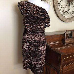 NWT Apt. 9 Size XL One Shoulder Ruffle Dress