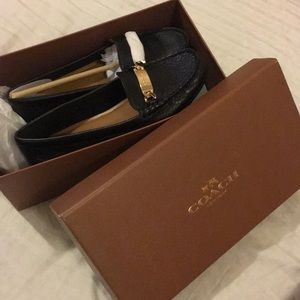 Brand new coach leather loafers