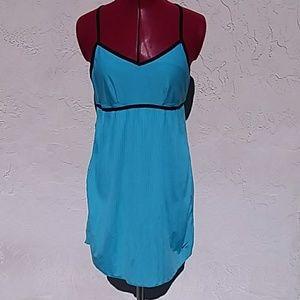 Nike blue tennis dress racer back pleated skirt