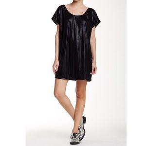 Black American Apparel Metallic Short Tunic