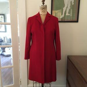 Vintage Anne Klein Petites Wool Cashmere Coat