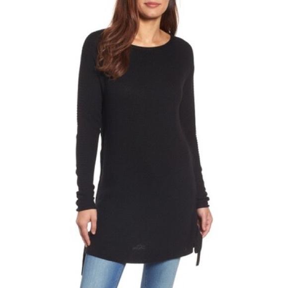 ef8225ed909dd Caslon Side Tie Seed Stitch Tunic Top Sweater
