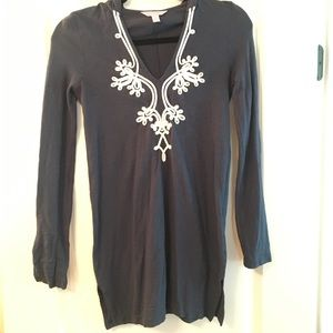 Lilly Pulitzer Navy Popover Tunic. XS