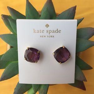 Kate Spade purple violet studs earrings