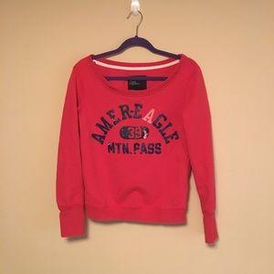 American Eagle Red Sweatshirt