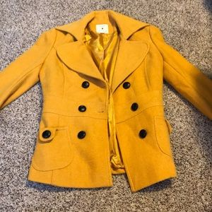 Size small mustard Forever 21 pea coat