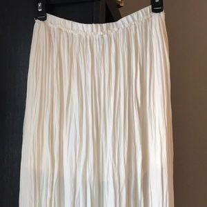 Ivory crinkle maxi skirt