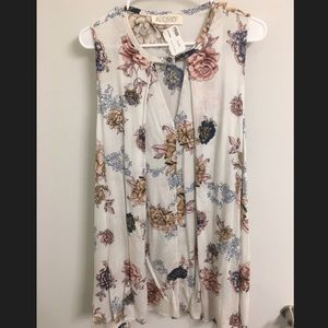 Audrey floral sleeveless top