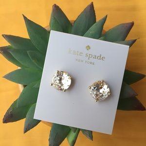 Kate Spade gumdrop crystal goldtone earrings studs