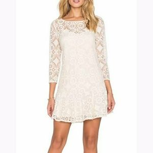 🆕with tags! Free people cream lace dress!