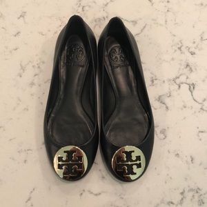 Brand new Tory Burch leather ballet flats