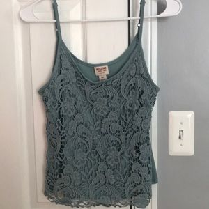Blue lace detailed tank