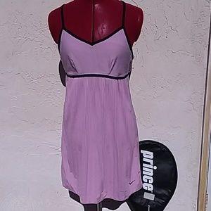 Nike purple tennis dress racer back pleated skirt