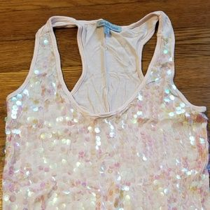 Pink sparkley tank top