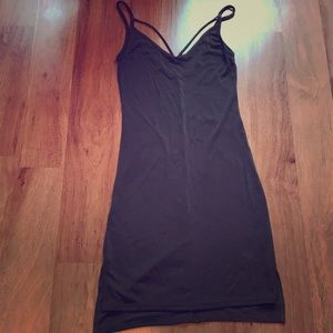 Green Bodycon Dress with Chest Straps