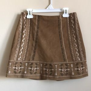Abercrombie and Fitch Suede Skirt