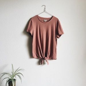 Madewell Pink Tie Knot Shirt