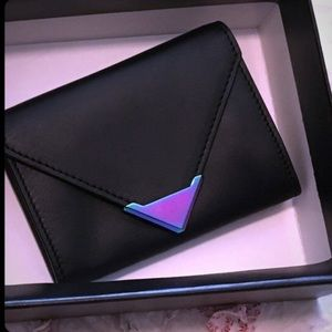 Alexander Wang iridescent wallet zip card holder