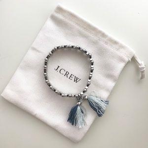 J. Crew Silver Triangle Tassel Bracelet