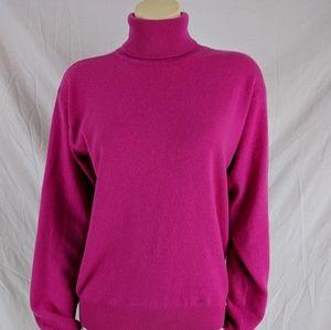 Women's Hot Pink Turtleneck Sweater on Poshmark