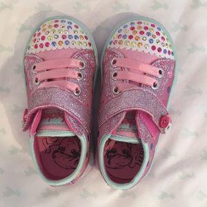 Skechers Toddler Girl Light Up Shoe