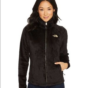 The North Face Osito 2 Fuzzy Black Jacket ZIP Up