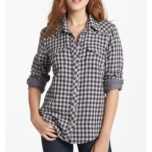 Lucky Brand Dixie gingham style western shirt