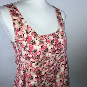 Juicy Couture 100% Silk Floral Tank Size 0