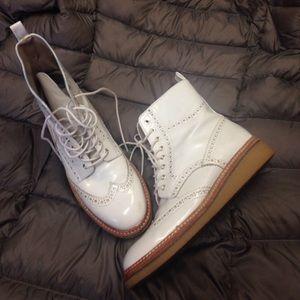 Zara white boots 38
