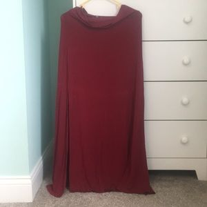 Charlotte Russe red maxi skirt