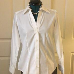 Fox croft white blouse