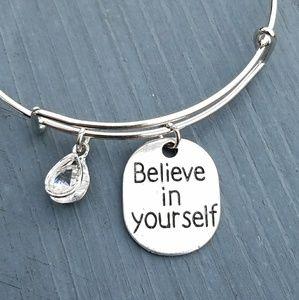 Jewelry - New believe in yourself charm bracelet