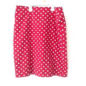 Petite Red Polka Dot Skirt