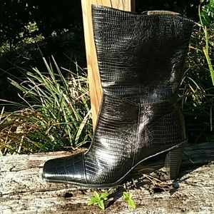 A. Marinelli Black Leather Boots in EUC