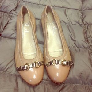 AGL shoes flats leather beige 38.5