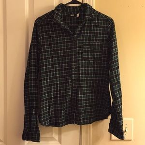 Urban Outfitters BDG Green and Black Flannel