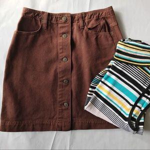 Vintage Pop Jeans button down Skirt