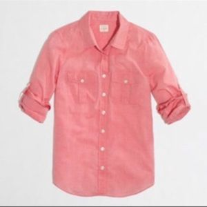 J Crew pink perfect fit shirt