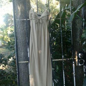 BCBG Golden Goddess maxi dress size 4