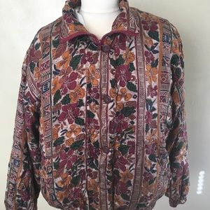 Vintage 1980s Windbreaker 100% silk