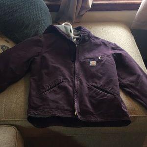 Carhart plum color size medium coat