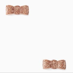 Glitter Bow Earrings - kate spade